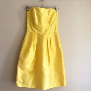 Alfred Sung strapless yellow dress